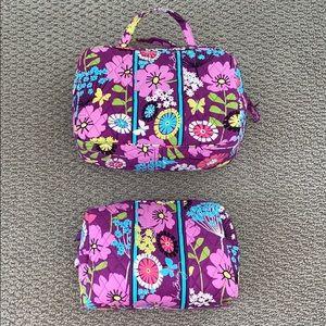 Vera Bradley cosmetic bag set fluttershy pattern.